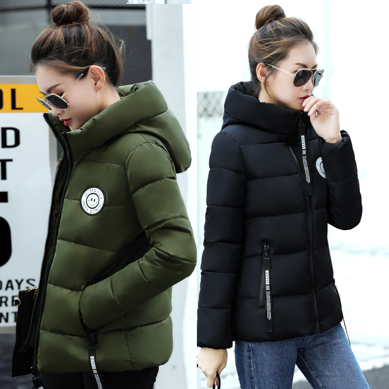New 2017 Winter-autumn women cotton basic fashion jacket women hooded coat casaco warm coats manteau hiver femme short jackets muxu new autumn winter coat women basic jacket coat female slim hooded cotton coats casual silver long sleeve ladies jackets