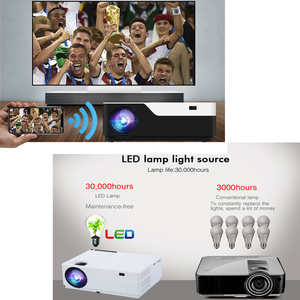 Image 3 - WZATCO M18 1920x1080P אנדרואיד 10.0 WIFI AC3 4K 200 אינץ מלא HD 1080P LED מקרן וידאו Proyector קולנוע ביתי 5500 לום