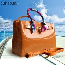 Роскошные сумки женские сумки Высокое качество желе сумки ПВХ водонепроницаемая сумка Пляжная Повседневное сумка