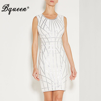 Bqueen 2017 New Arrival Sexy Bright Striped O Neck Mini Sleeveless Casual Party Summer Women Lady
