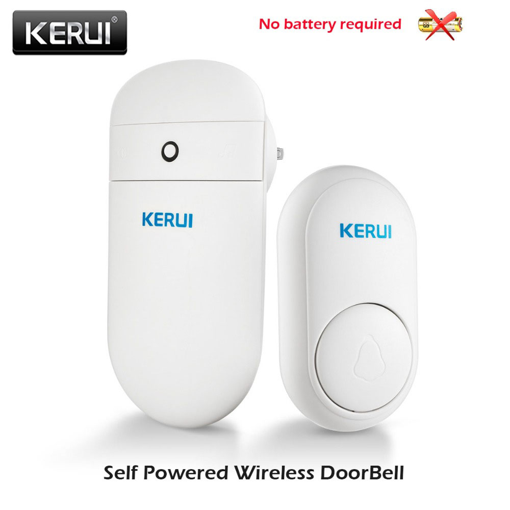 KERUI Door Bell M518 Self-generating Color Indicator With Memory Function 52 Optional Timbre Environmental Protection Door Bells