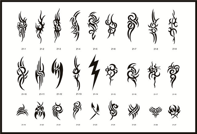 Golden Phoenix Book 21 Temporary Airbrush Tattoo Stencils For Body Art Painting Flower Series Makeup Cosmetics Free Shipping