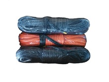 12 mm x 50 Meters 12 Strand  Synthetic Winch Rope With 2 Meters Black Protector Sleeve