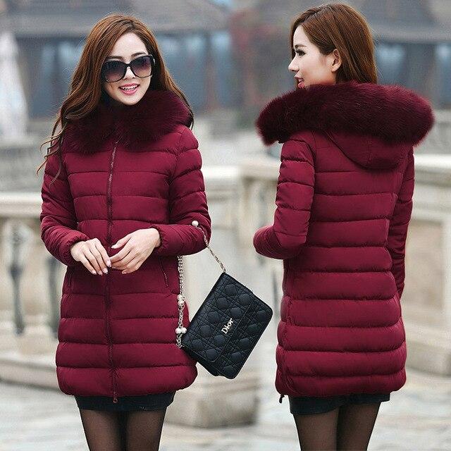 Plus Size 7XL 2018 Drop Shipping Winter Jacket Women Fur Hooded Parkas Slim Fashion Female Coats Jacket Winter Women Coats 4