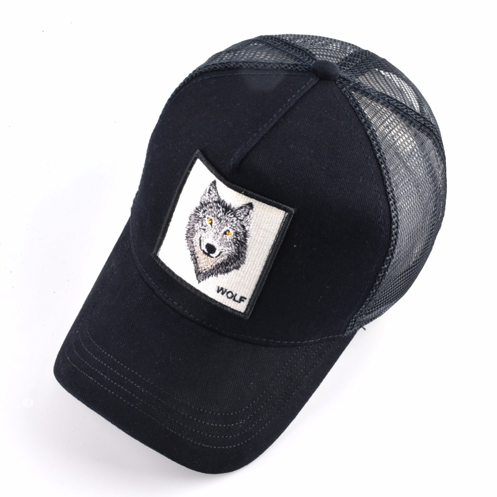 8 Kinds of embroidery animal Baseball Caps men Breathable Mesh Snapback caps Unisex sun hat for women bone Casquette Hip Hop cap 1