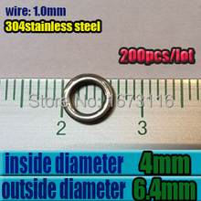 2015new fishing boat accessories fishing ring solid rings fishing1.0mm*4mm*6.4mm quantily 200pcs