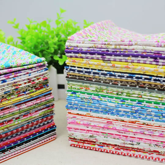 Plain &Twill Cotton Handmade Fabric for DIY Patchwork Sewing Fabric WalletBag  20*24cm100pcs no repeat Free shipping