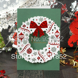 DHL Freeshipping generic blessing cards Tri folding Type Postcards ...