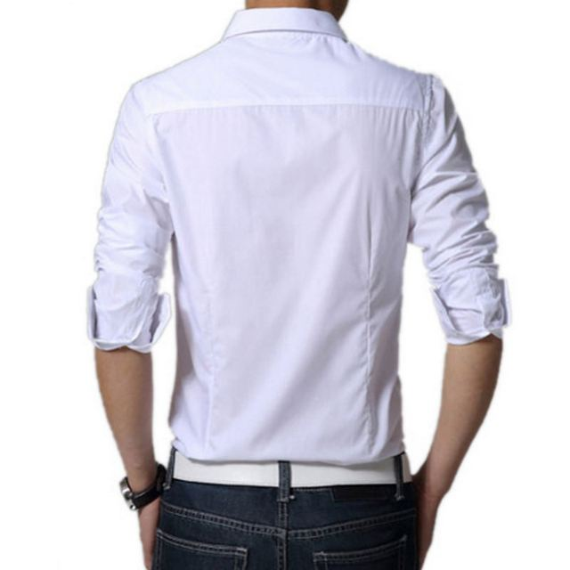 New 2018 Men's Pure Cotton Shirt Slim Fit Fashion Long Sleeve Casual Business Shirts Men Dress Shirts High Quality Camisas
