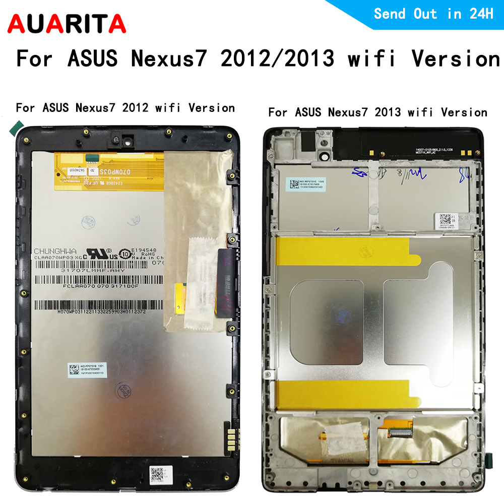 Nexus7 <font><b>LCD</b></font> display + Touch panel Digitizer Screen digiziter mit rahmen montage für <font><b>ASUS</b></font> Google <font><b>Nexus</b></font> <font><b>7</b></font> 2012 <font><b>2013</b></font> wifi version <font><b>lcd</b></font> image
