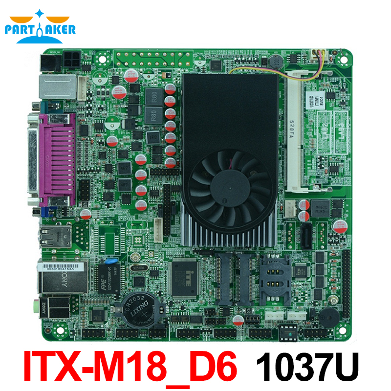 Mini Itx industrial motherboard Intel 1037U /Intel NM70 chipset /1*SO DDRIII slot /1*VGA/1*LVDS/MINI-ITX-M18-D6 mini itx motherboard adv an tech aimb 212n s6a1e n450 twin 6 fan serial lvds 100% tested perfect quality