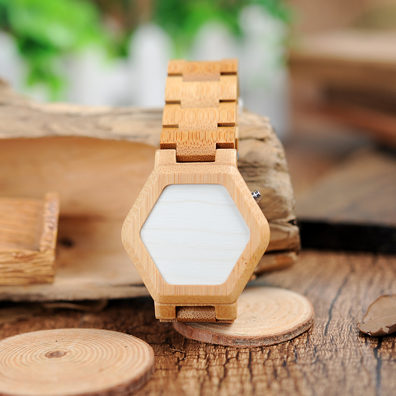 Image 3 - BOBO BIRD V E03 Casual LED Digital Bamboo Watch Night Vision LED Watch Cool LED Display Clock with Unique LED Date Dayclock ledclock with dateclock digital led -