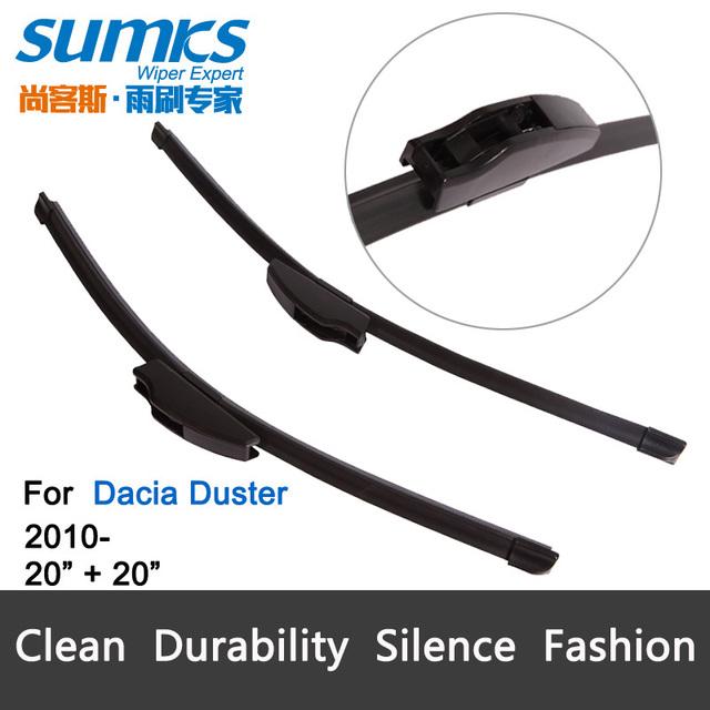 """Escovas para Dacia Duster (a partir de 2010) 20 """"+ 20"""" fit padrão J gancho limpador braços só HY-002"""