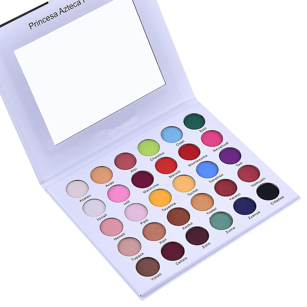 30 Colors Shimmer Glitter Eye Shadow Powder Palette Matte Eyeshadow Cosmetic Makeup 0509MZH