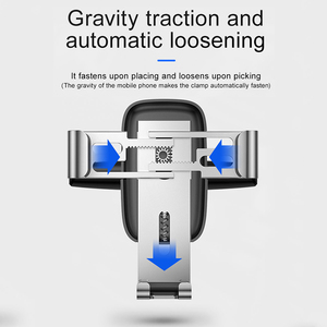 Image 5 - Baseus Gravity Car Phone Holder for Car CD Slot Mount Phone Holder Stand for iPhone 11 Pro Xs Max Metal Cell Mobile Phone Holder
