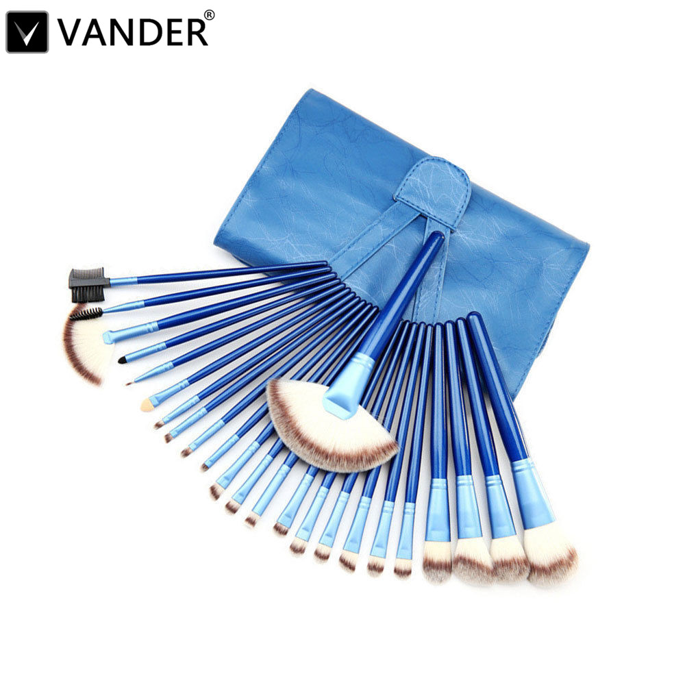 Vander 24PCS Makeup Brushes Set Cosmetics Powder Eyeshadow Eyeliner Make-up Blush Soft Brush Styling Kits & Bag Aristocratic Bag 24pcs beauty makeup brushes set cosmetics foundation eyeshadow eyeliner lipstick make up blush soft brush bag pincel maquiagem