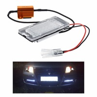 2PCS Direct Fit White LED License Plate Light Lamps For VW Touran Touareg Polo Jetta 2011