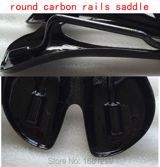 Newest hollow mountain bike 3K full carbon fibre saddle road bicycle saddle MTB front seat mat with round carbon rails Free ship newest mountain bike 3k carbon fiber full carbon saddle bicycle saddle road front seat cushion matte mtb