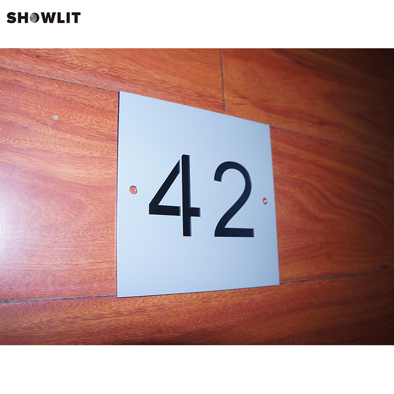 Modern Fashion Design 2-tile House Numbers Address Plaque Signs modern brushed aluminum install address signs