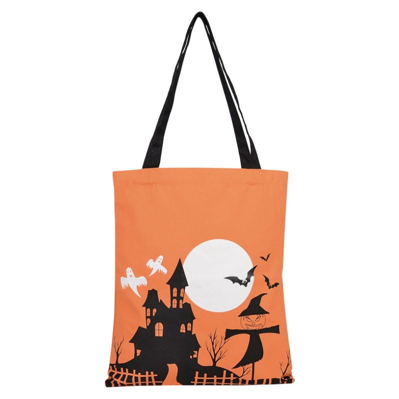 Personalized Halloween Trick or Treat Bucket Tote Bag Candy Gift Sack Bag Halloween Da(China)