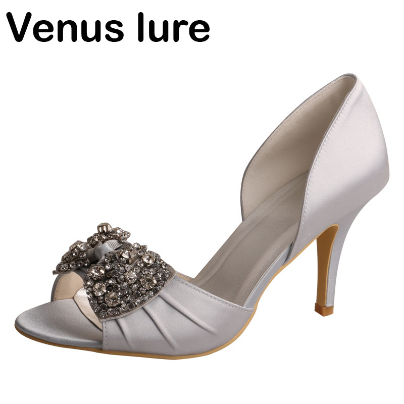 c293e9ccdd top 8 most popular silver satin wedding heels list and get free ...