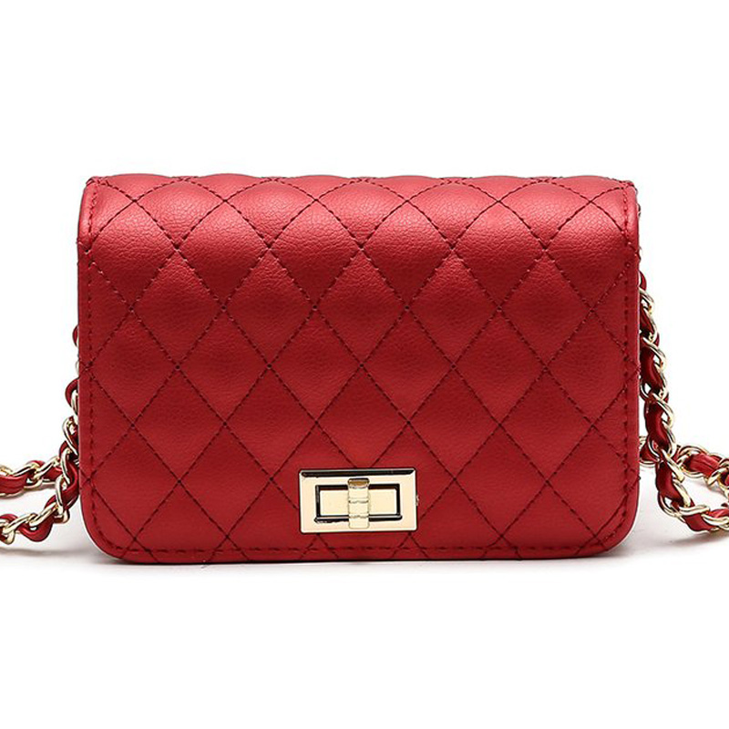 Women Bag Female Handbags Leather Over Shoulder Bag Crossbody Quilted Chain Diamond Red Small Flap Lock Fashion Sling Lady Bags 2017 hot fashion women bags 3d diamond shape shoulder chain lady girl messenger small crossbody satchel evening zipper hangbags