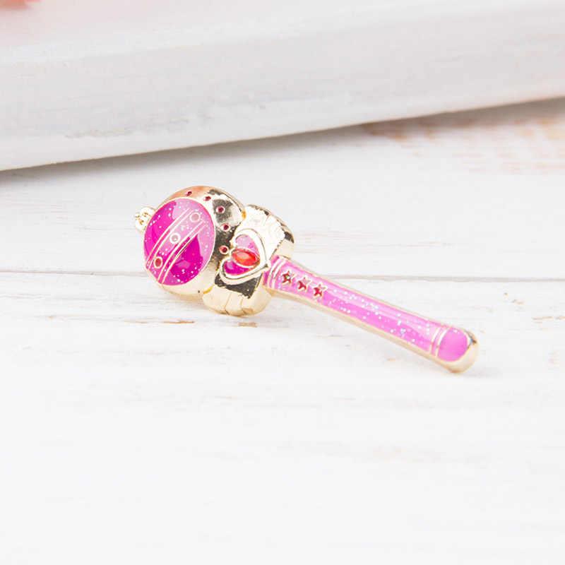 Sailor Moon Stick Rod Manis Bulan Batang Spiral Jantung Bulan Rod Kaleidomoon Lingkup Bros Lencana