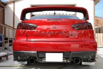 Car Accessories Carbon Fiber OEM Style Rear Diffuser Fit For 2008-2012 Evolution EVO X EVO 10 Rear Lip