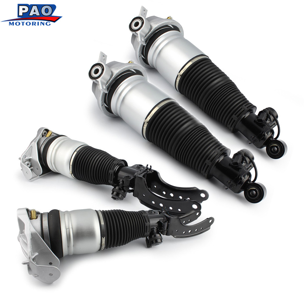 4PC New Front and Rear Air Suspension Shock Absorber Strut For Audi Q7 Porsche Cayenne Volkswagen Touareg 7L5616039,7L5616019F 2 front air suspension shock strut for audi a8 d3 4e 2002 2010 4e0616039ah 4e4616040e 4e0616040af 4e4616039d 4e4616040d