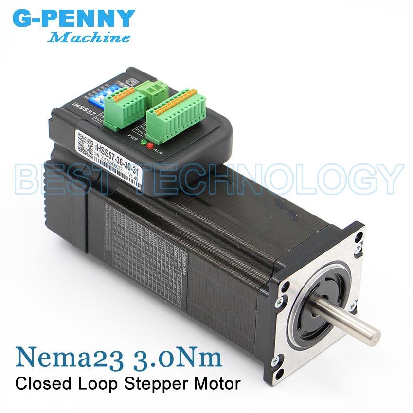 Nema23 Integrated Stepper Servo Motor with driver 3Nm 5 0A 428Oz in Closed loop Stepper motor