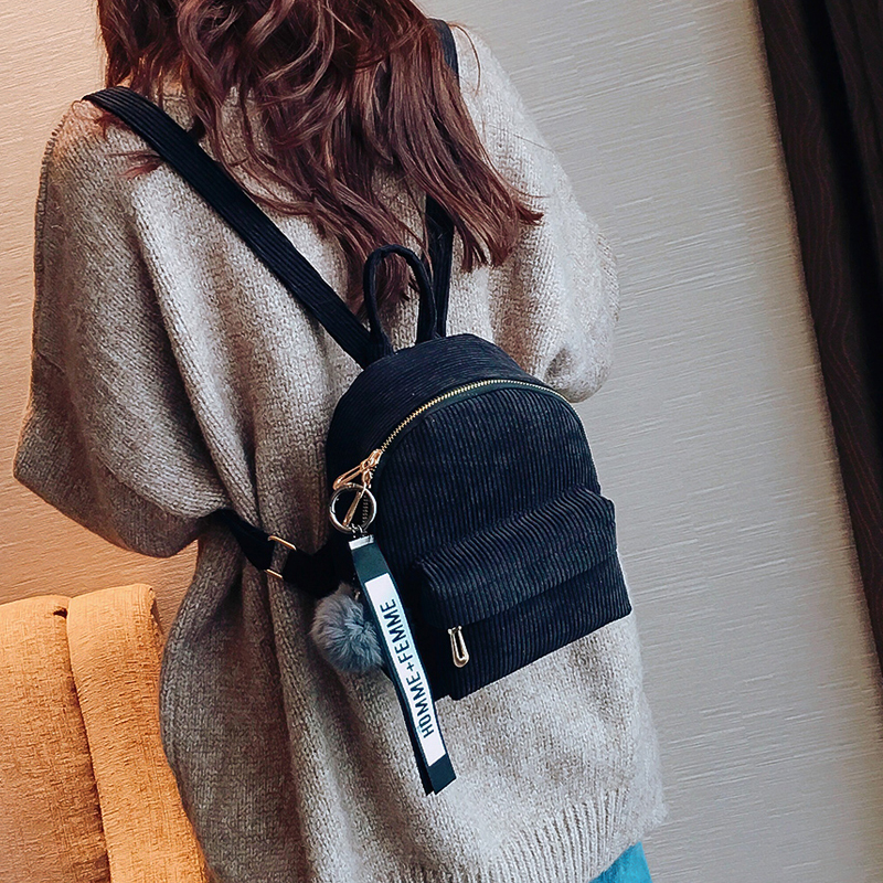 Милый бархатный рюкзак для подростков, детский мини рюкзак, Kawaii, маленькие рюкзаки для девочек, женские рюкзаки, меховая школьная сумка-3