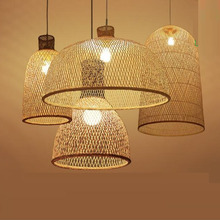 Vintage Bamboo Art Pendant Lights Wood Wicker Chinese Pendan