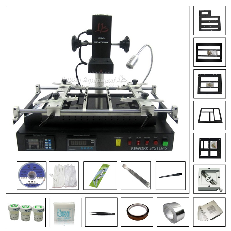LY IR8500 Infrared BGA Rework Soldering Station BGA Reballing Kit 23pcs 90mm Game Consoles Stencil & PCB support PS3/XBOX