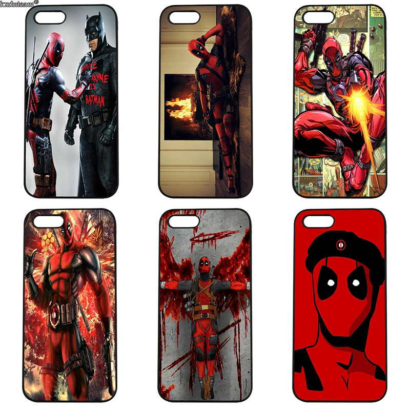 Film Marvel Avengers Deadpool Hard PC Plastic Phone Case Cover for iphone 8 7 6 6S Plus X 5S 5C 5 SE 4 4S iPod Touch 4 5 6 Shell