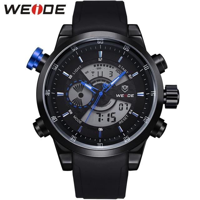Original WEIDE Military Watches Men Sports Full Steel Quartz Watch Luxury Brand Waterproofed Diver Diving Watch Free Shipping