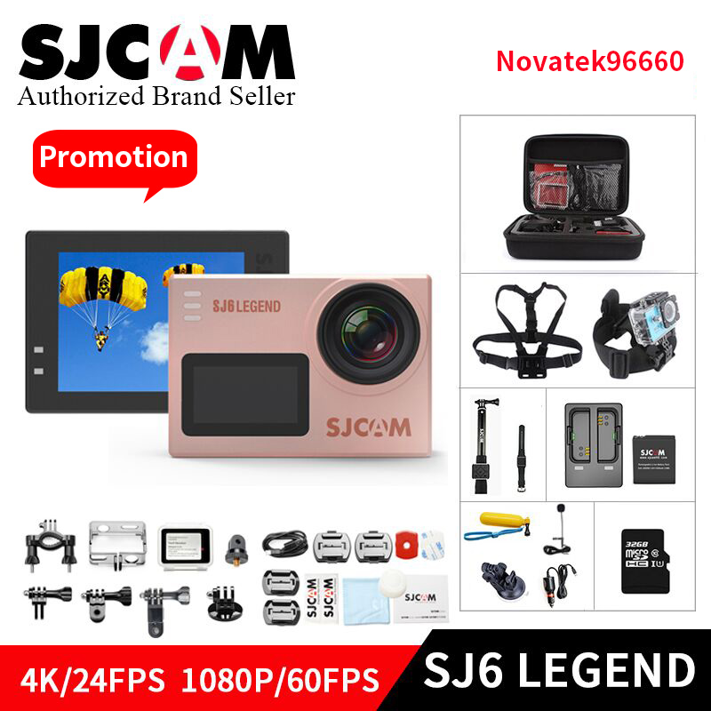 SJCAM SJ6 Легенда Novatek96660 гироскопа 4 К Экшн камера Ultra HD WiFi удаленного Управление действие видео Cam 16MP Водонепроницаемый спортивные Камара