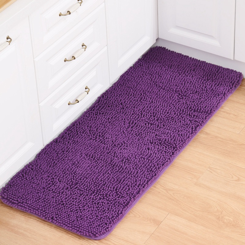 Chenille Carpet High Quality Bathroom Kitchen Room Rugs Antislip Floor Mat Living Anitskid Solid