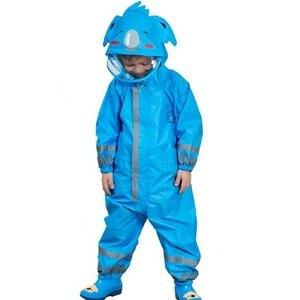 Image 5 - Winstbrok子供レインコートレインパンツ子供漫画防水レインウェア少女と少年ポンチョ不浸透性レインコート雨ジャンプスーツ