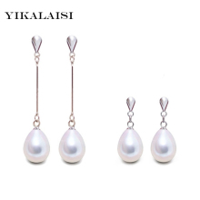 2017 fashion brand natural pearl statement earrings outstanding women long earring 925 sterling silver jewelry Female Bijouterie