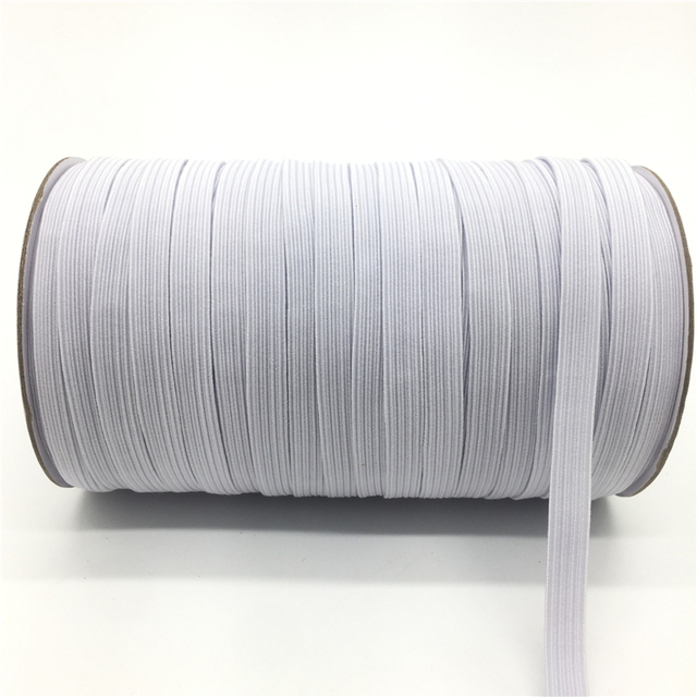 32 Colors 5 Yards 7mm Elastic Band Multirole Trim Ribbon Sewing Spandex Lace Trim Waist Band Garment Accessory