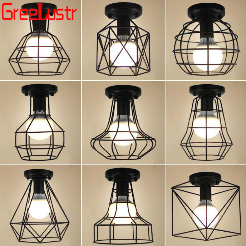 Luminaria Led Ceiling Lights retro Industrial Loft Chandelier ceiling iron E27 luster lamp Home Lighting Fixture Lamparas AbajurLuminaria Led Ceiling Lights retro Industrial Loft Chandelier ceiling iron E27 luster lamp Home Lighting Fixture Lamparas Abajur