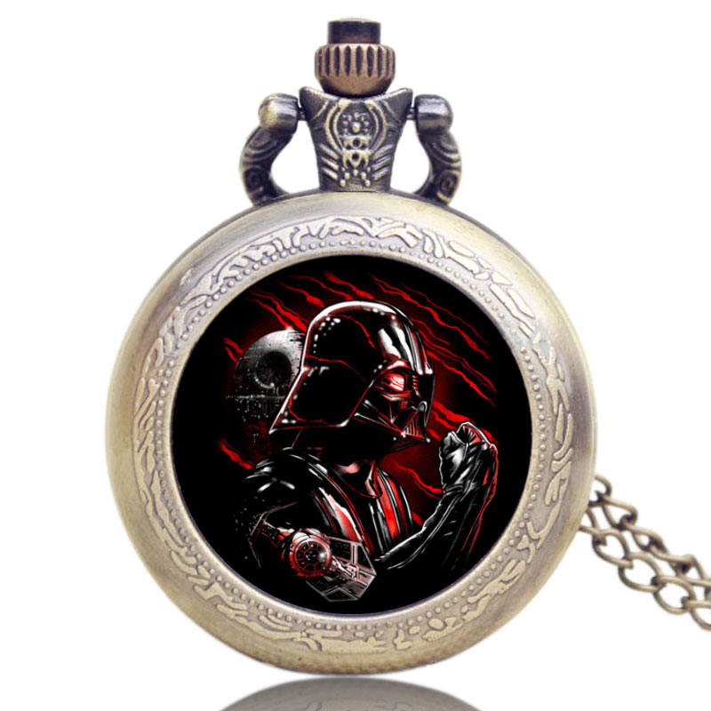Hot Game Steampunk Retro Design Star Wars Theme Pocket Watch Darth Vader Quartz Watches Anakin Skywalker Pendant Jewelry Gift