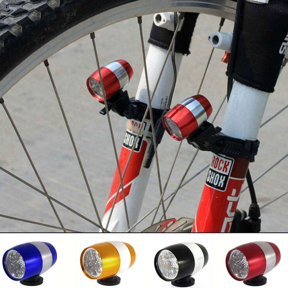 Waterproof Ultra Bright 6 LED Bicycle Bike Front White Head Light Aluminium Alloy Mini Safety Cycling Flashlight