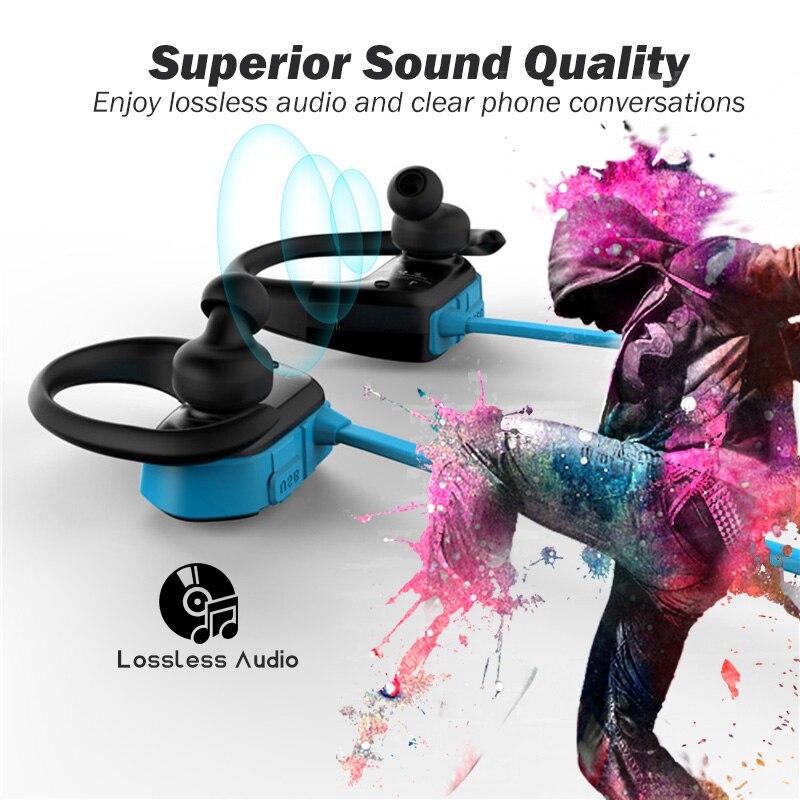 Ralyin 8 GB mp3 lecteur casque bluetooth sport étanche casque sans fil lecteur de musique bluetooth écouteurs bluetooth pour téléphone - 5