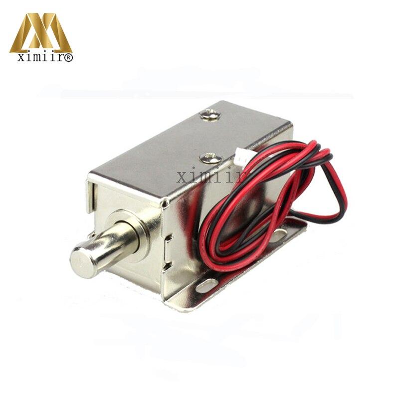 цена на Round Cabinet Lock Small Electric Control Lock 12V Mini Electric Lock Electric Cabinet Lock Electromechanical Lock Drawer Lock