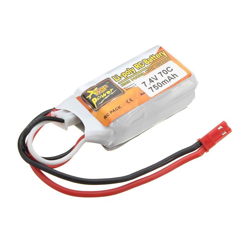 New Arrival ZOP Power JST Plug 7 4V 750mAh 2S 70C Rechargeable Li po Battery For