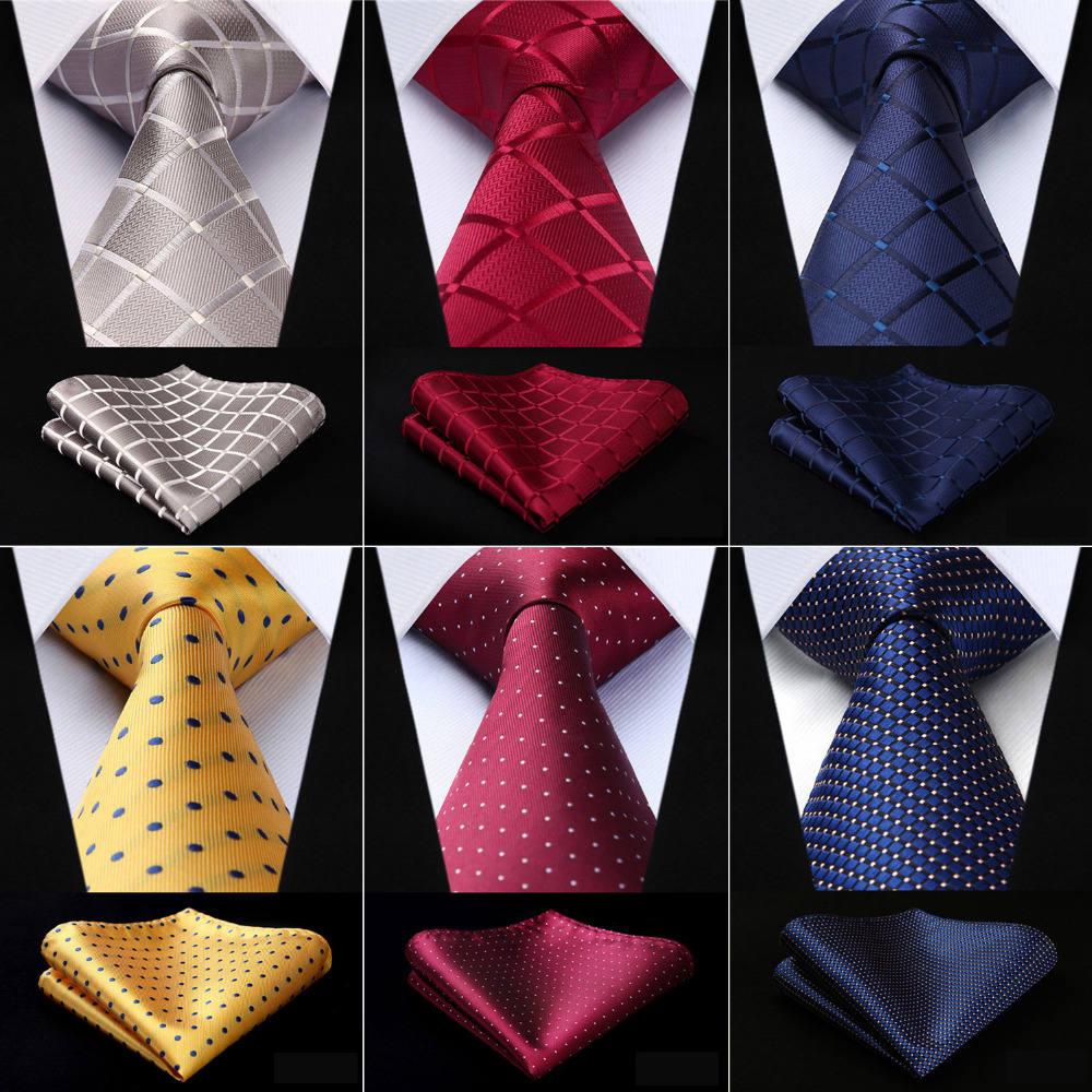 Holiday Season Party Necktie /& Pocket Square Set HISDERN Christmas Tie for Men