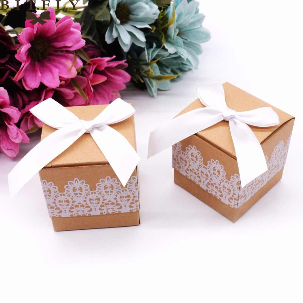 Aliexpress.com : Buy 50Pcs/lot Sweet Lovely Candy Box Rustic White ...
