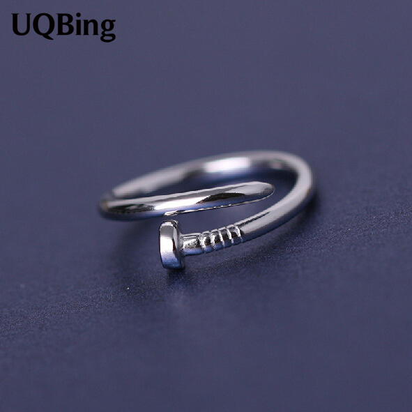 Wholesale Fashion 925 Sterling Silver Rings Jewelry Nail Open Rings ...