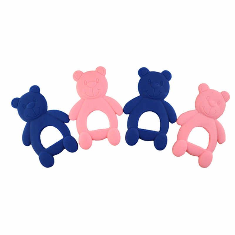 Newborn Tooth Bears Children Chewing Teethers Safety Infant Teething Traning Toys Baby Teether Silicone